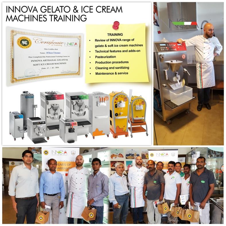 INNOVA GELATO & ICE CREAM MACHINES TRAINING IN DUBAI