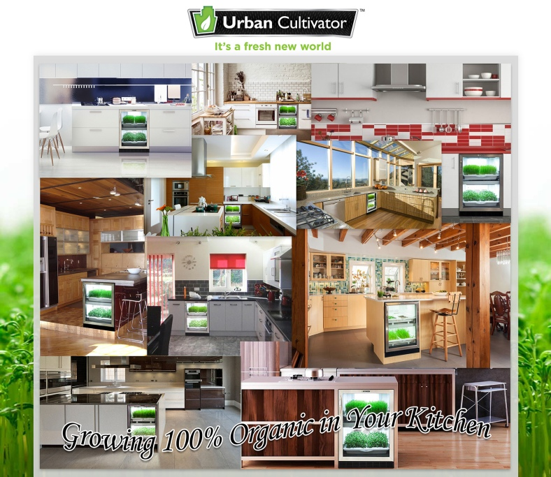 URBAN CULTIVATOR RESIDENTIAL: GROWING 100% ORGANIC IN YOUR KITCHEN ...